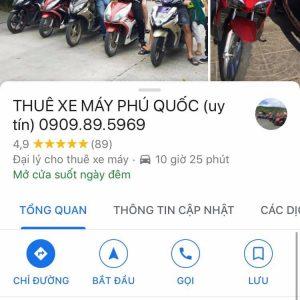Đánh giá của khách hàng trên Google Maps