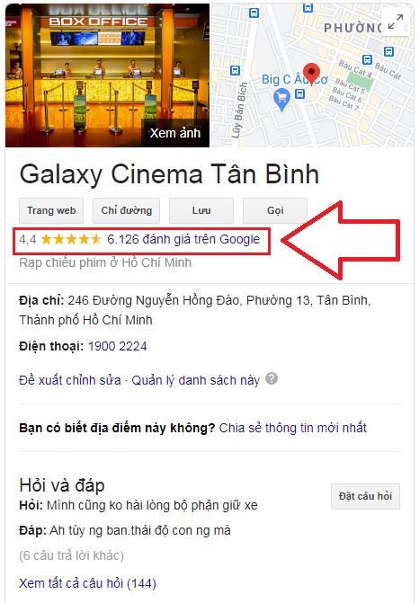 Dịch Vụ Mua Đánh Giá 5 Sao Google Maps